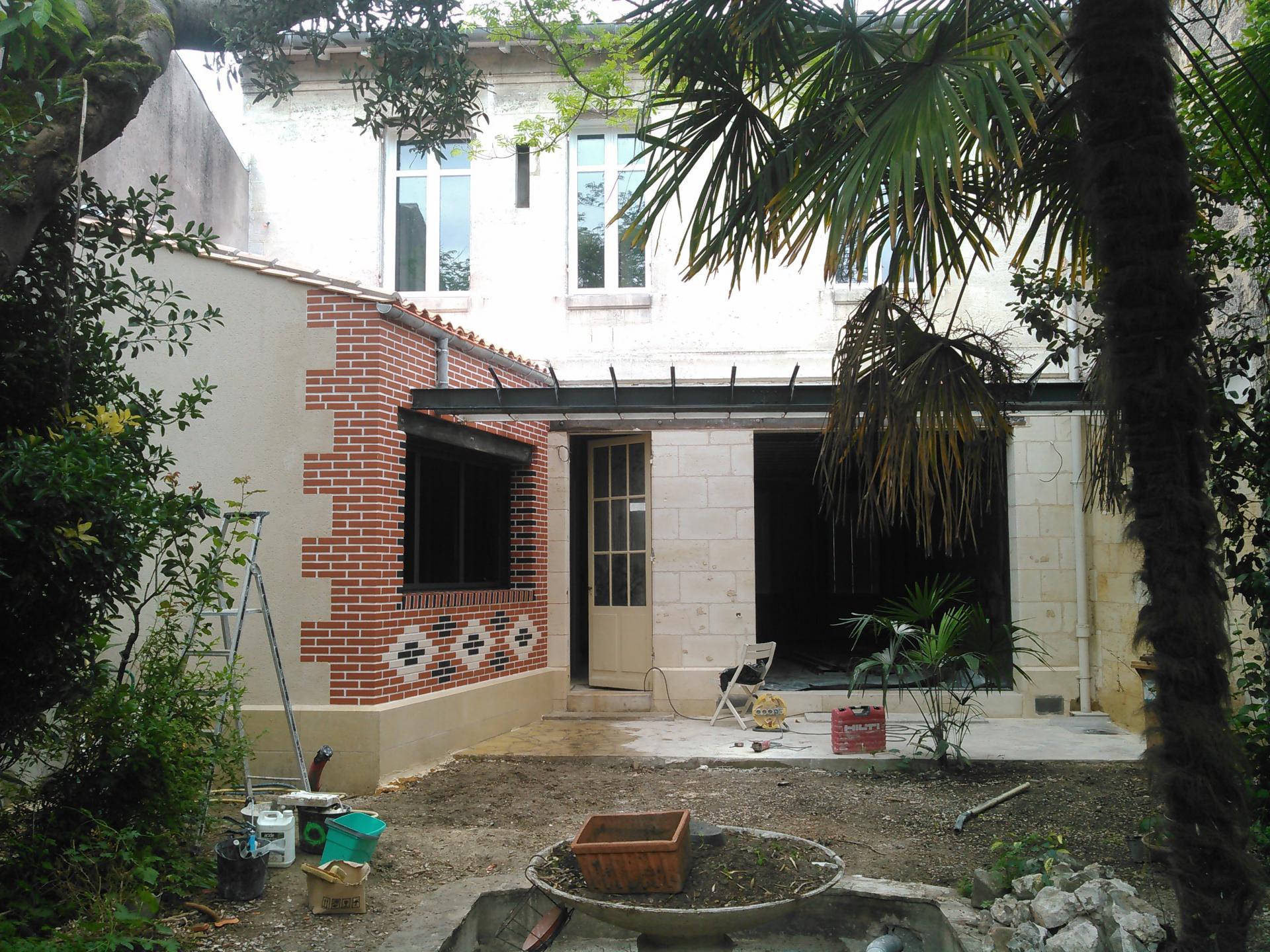 Extension et habillage en briquettes de parement