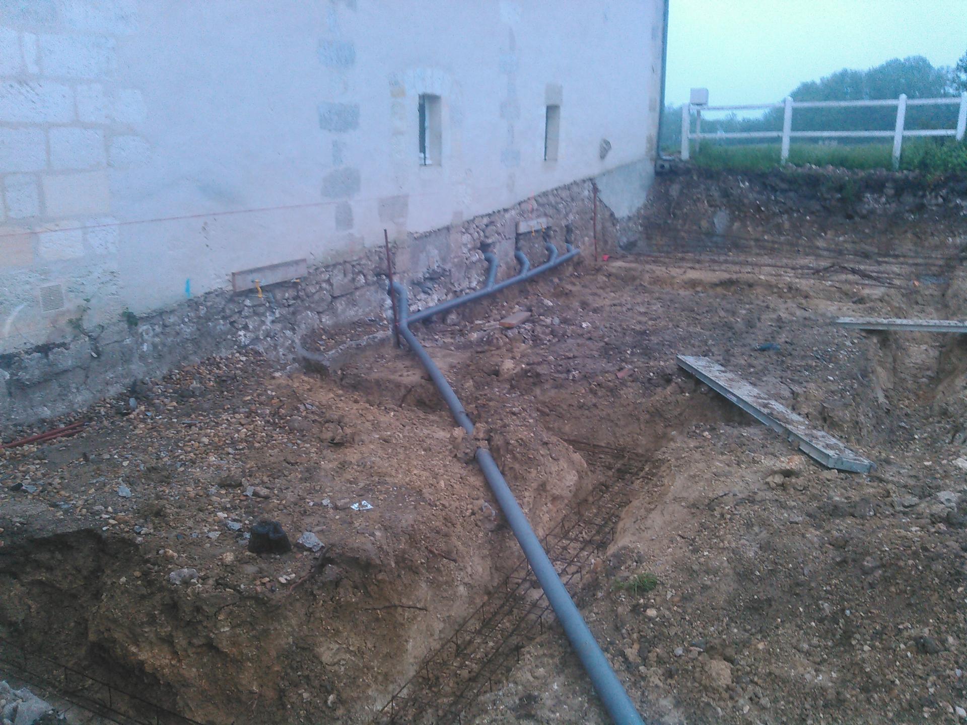 Travaux de terrassement pour extension et garage