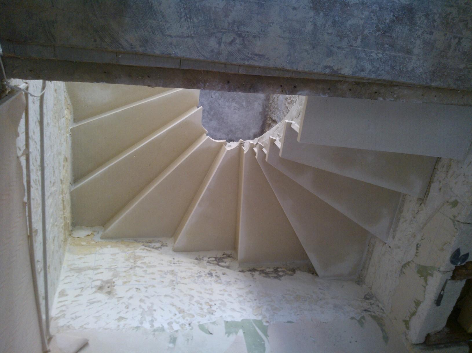 Escalier vu de dessus